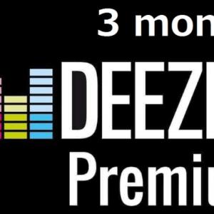 Deezer Premium account 3 months